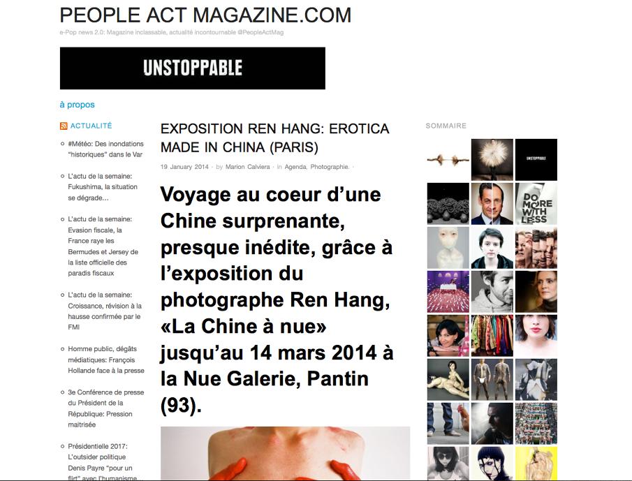 Galerie gent magazine nue