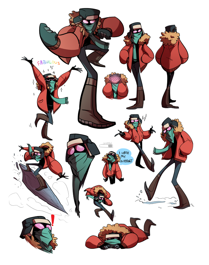 Character Design Portfolio : Character design permafrost online portfolio of j m