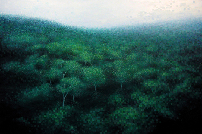 Lost in the woods jim whitty art - The hideout in the woods an artists dream ...